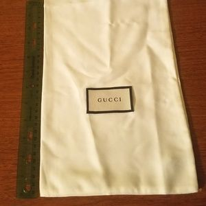Gucci Dust Bag Silky White -Wallet Shoe Slim Purse